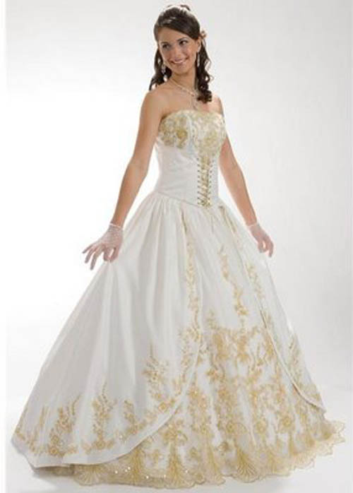 A Wedding Addict Perfect Light Gold Soft Wedding Dress