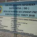 Warga Desa Semampir Protes Pembangunan Gedung Serbaguna Senilai Rp.700 juta Lebih yang Mangkrak