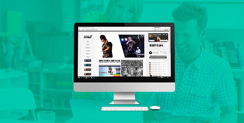 Diseño web - Junior Sambo - Colombia Bogota Medellin Santa Marta