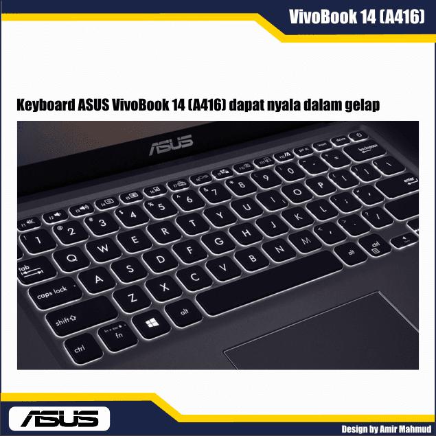 Keyboard ASUS VivoBook 14 A416 dapat nyalan dalam gelap