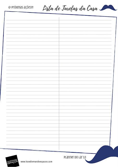 Lista de Tarefas da Casa