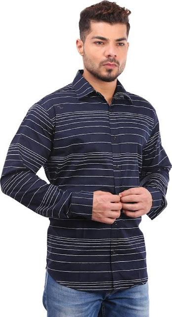 Men full sleeve casual button down cotton shirt