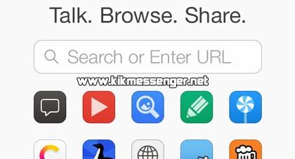 Video demostracion de como usar el navegador de Kik