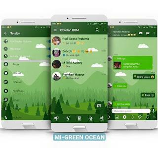 Free Download BBM MODMI-Green Ocean Versi Terbaru v3.3.0.16 APK