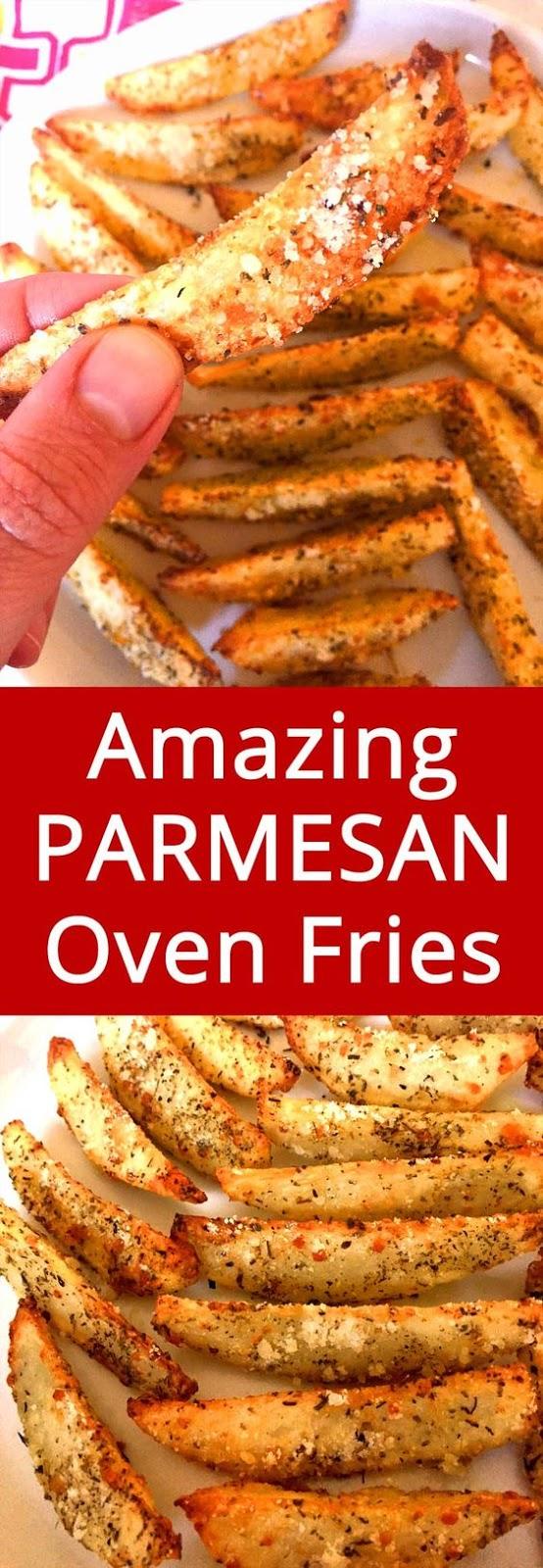 Crispy Baked Garlic Parmesan Potato Fries