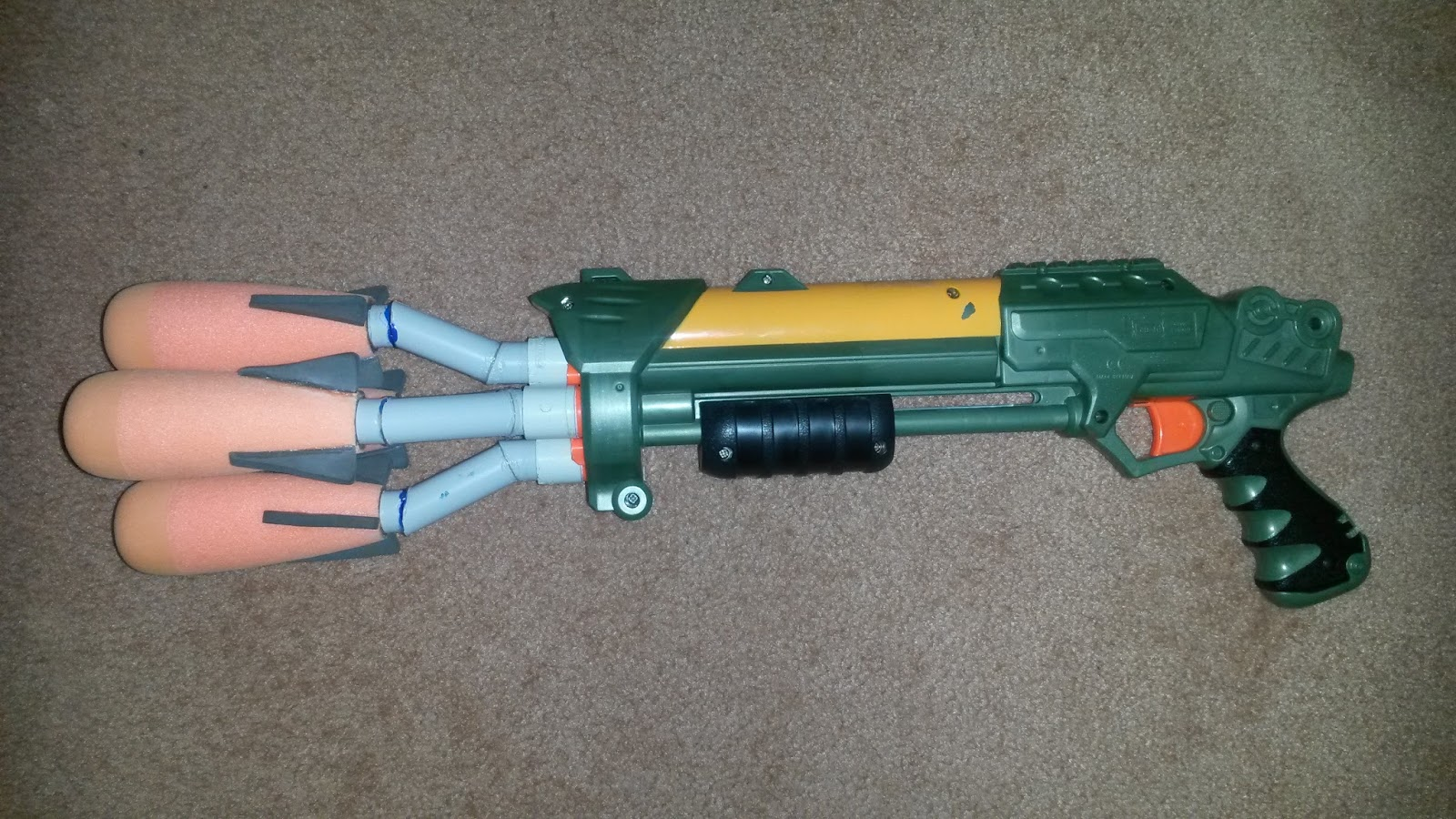Outback Nerf: Mod: Quad Rocket Lanard Shotgun