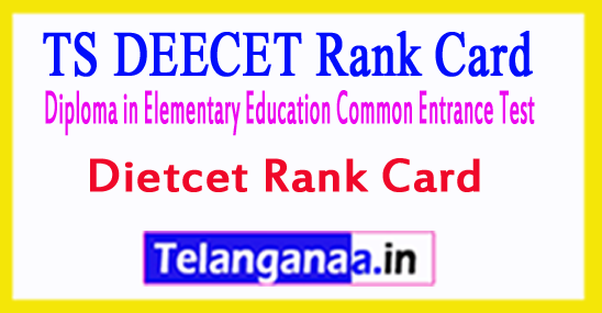 TS DEECET Rank Card TS Dietcet Rank Card 2018