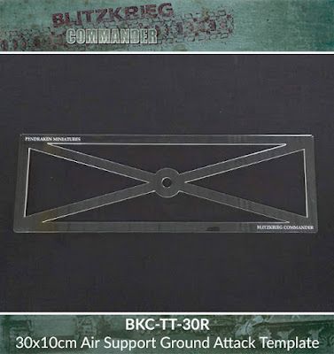 BKC-TT-30R   30x10cm Air Support ground attack template