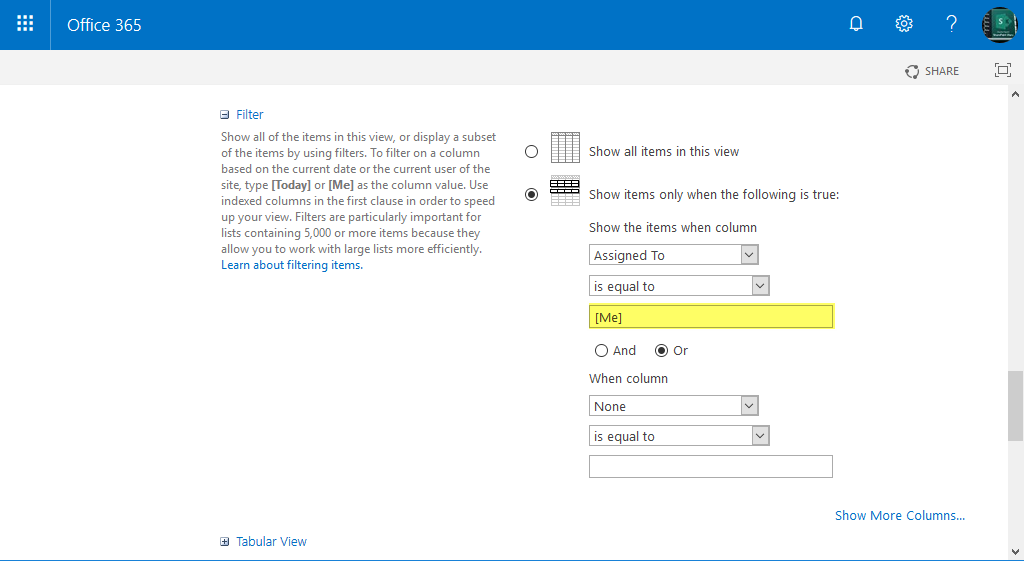 sharepoint online show tasks assigned to my group