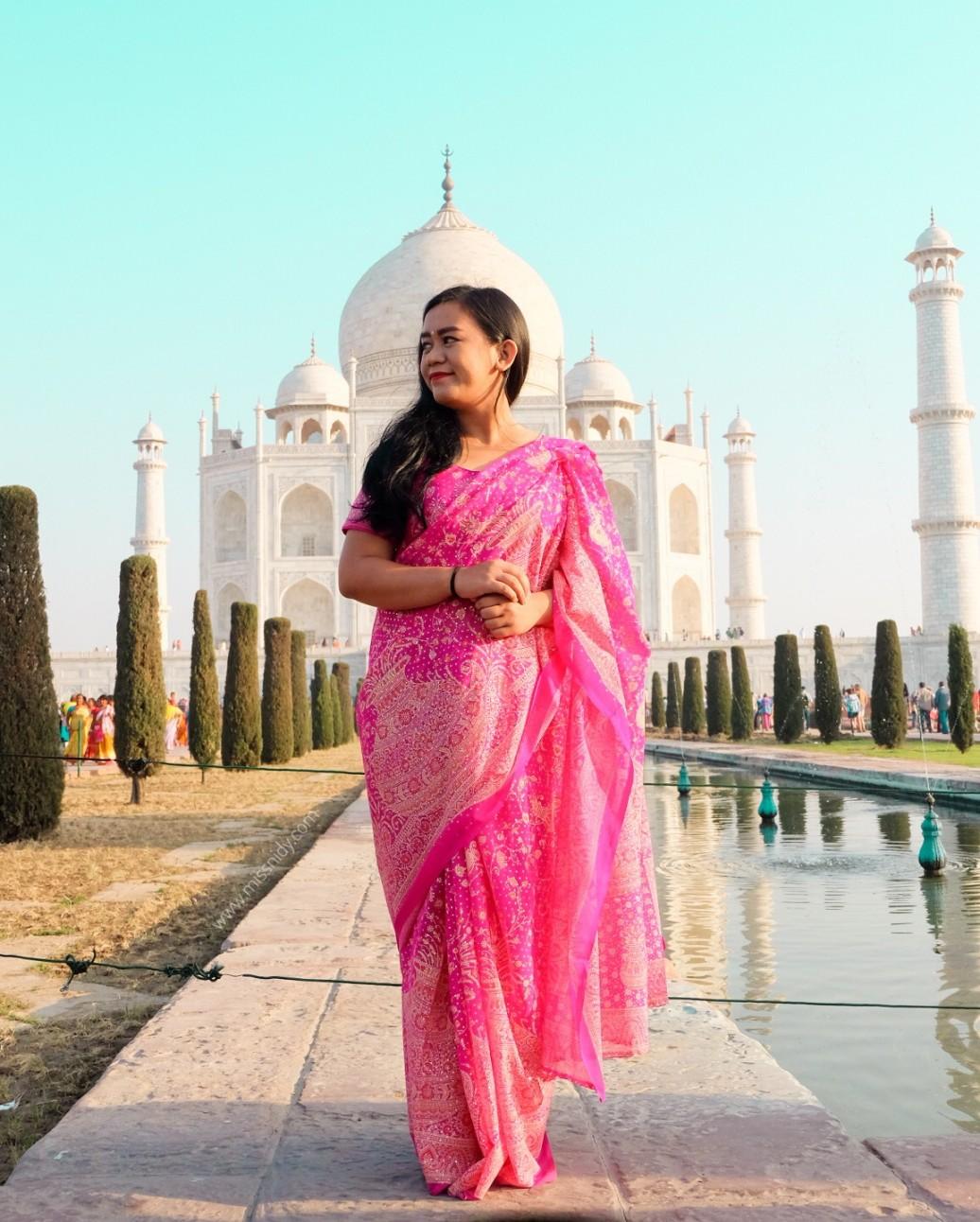 pengalaman pakai kain saree di india