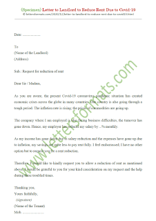 sample letter to landlord to reduce rent due to covid 19