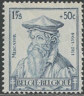 Belgium 1942  Gerard Mercator - Cartographer
