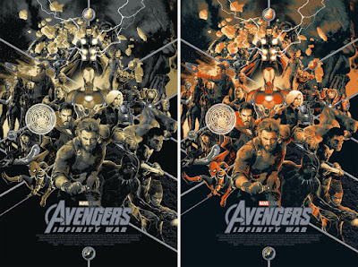 San Diego Comic-Con 2018 Exclusive Avengers: Infinity War Movie Poster Variant Screen Print by Matt Taylor x Mondo