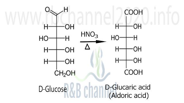 أكسدة الغلوكوز بحمض الازوت والحصول عل الألدريك اسيد