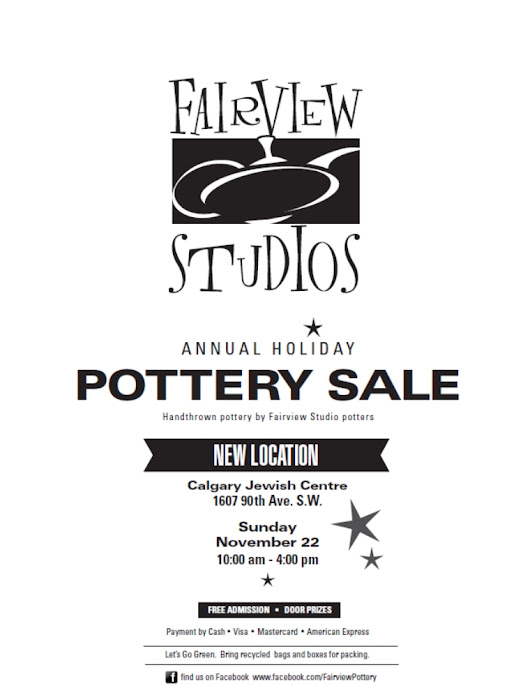 Fairview Pottery Sale - Fall 2015 - NEW LOCATION, NEW DAY, NEW TIME!!!