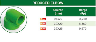 Harga REDUCER ELBOW 90° Pipa Ppr Rucika Kelen Green