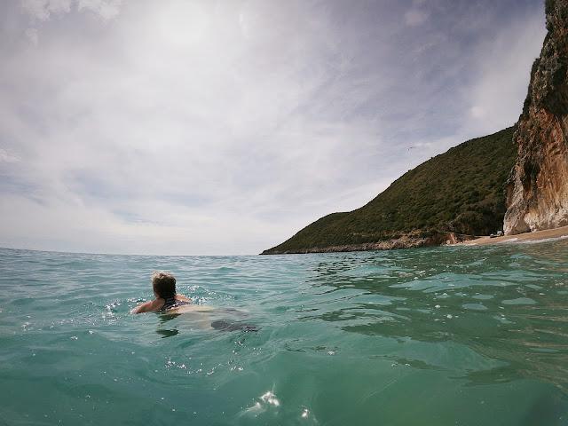 Swim in the Ionian Sea; Gjipe Beach, Albania