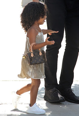 North West steps out in $1000 Louis Vuitton bag in New York