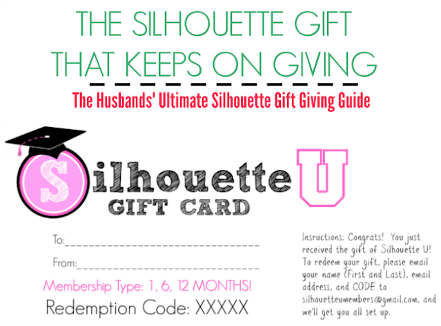silhouette gift guide, silhouette holiday guide, silhouette u, silhouette u gift card, gift card