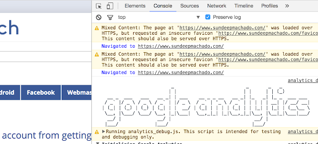 Google Analytics debugger chrome extension