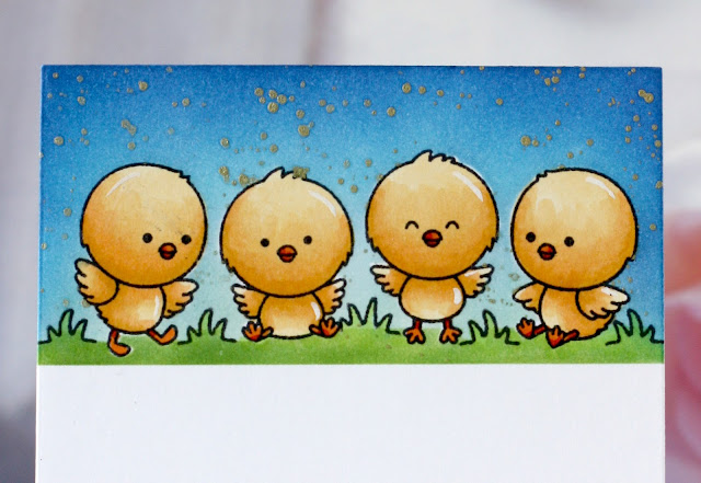 Sunny Studio Stamps: Chickie Baby Easter Card by Karin Akesdotter