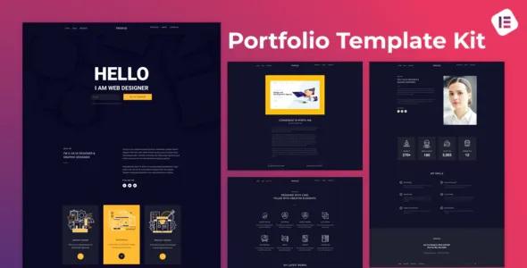 Best Web Designer Portfolio Elementor Template Kit