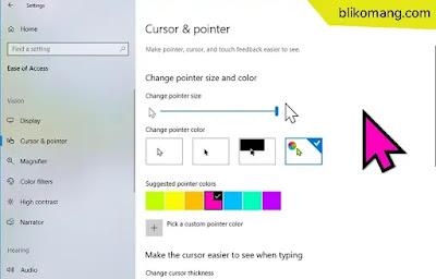 Mengganti Ukuran dan Warna Kursor di Windows 10