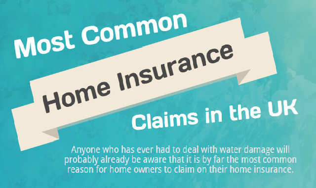 Most Common Home Insurance Claims In The UK #infographic