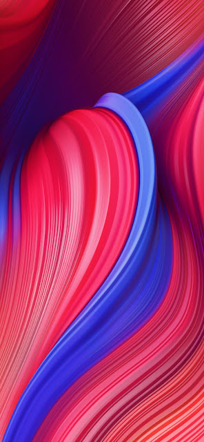 MIUI 11 Abstract Red Wallpaper Full HD Plus