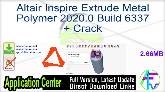 Altair Inspire Extrude 2020.1.1 Build 6500 + Crack