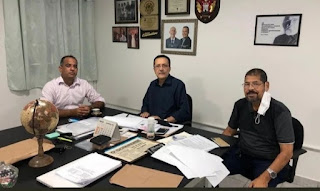 André Rabico visita secretário de Educação Fernando Veloso