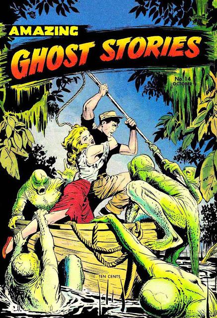 Amazing Ghost Stories v1 #14 - Matt Baker 1950s golden age comic book cover art
