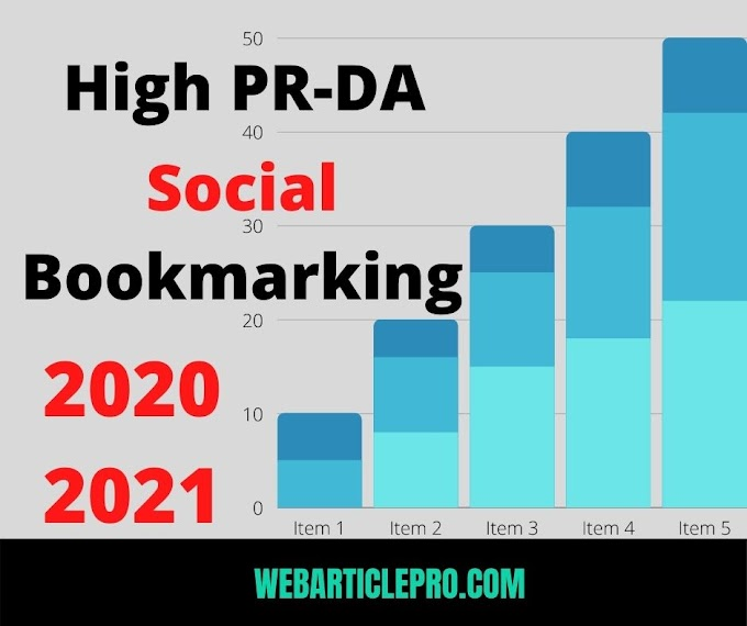 Free Dofollow Social Bookmarking Sites List high DA-PA 2020-21