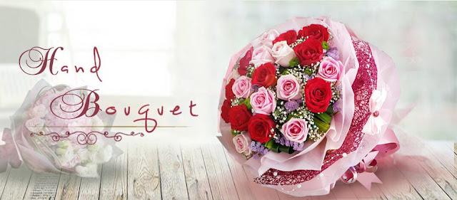 Gambar Buket Bunga Asli dan Bahan Flanel