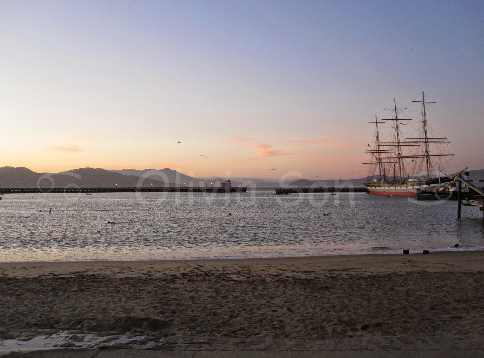 sunset san francisco, californie, usa