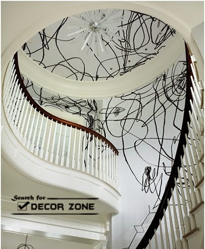 Staircase Designs Creative Staircase Wall Decor Ideas With Paint   Wall Painting Designs For Staircase   Simple   Decorative   Two Tone   Modern   Hall Nature