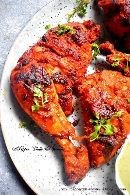 restaurant style chicken tandoori,tandoori chicken without tandoor or oven