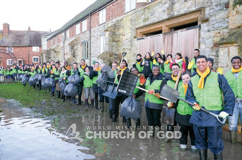 Flood relief efforts in Oxford, U.K.