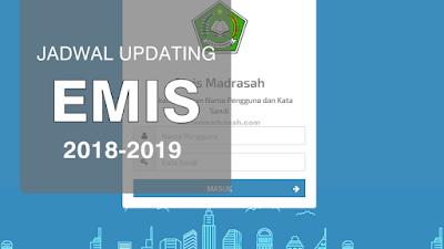 Jadwal Updating Data Emis Madrasah, PD-Pontren dan PAI Semester Ganjil 2018-2019