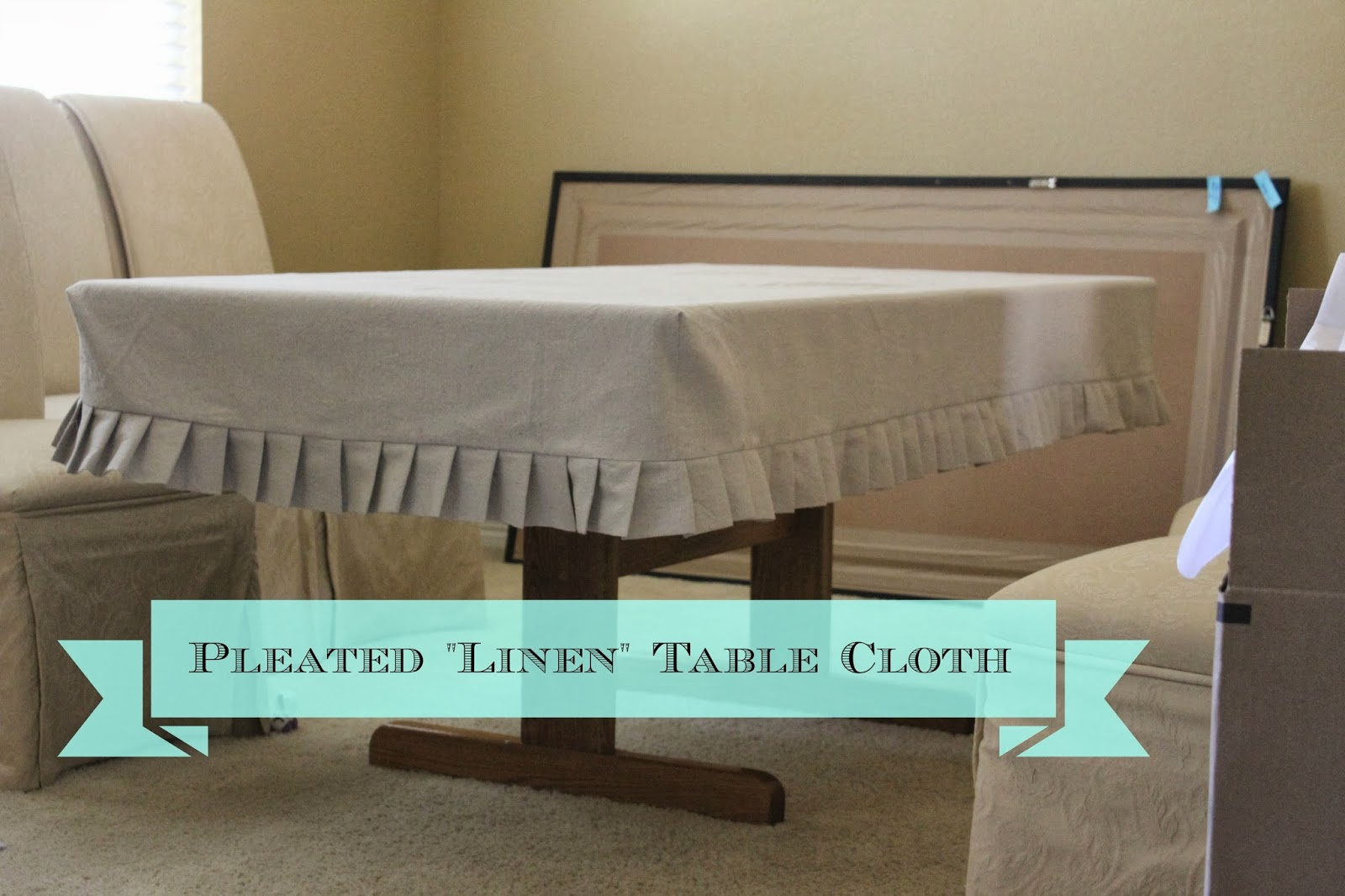 """2nd Story Sewing: Tutorial: DIY """"Linen"""" Pleated Table Cloth"""
