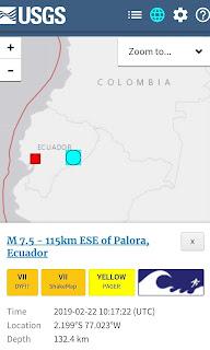 زلزال شديد يضرب الاكوادور و البيرو