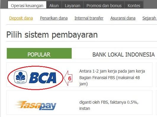 Forex deposit bank bca