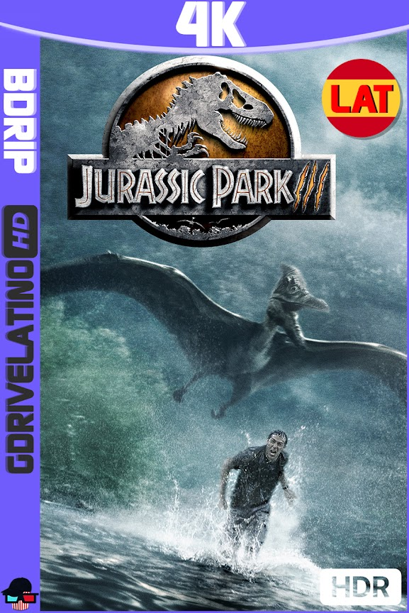 Jurassic Park 3 (2001) BDRip 4K HDR Latino-Ingles MKV