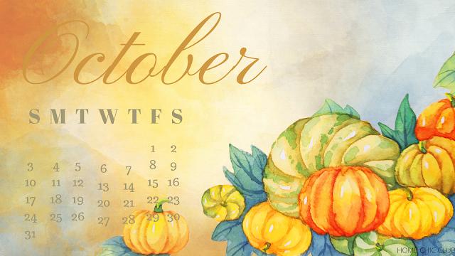 Free Desktop Calendar /October 2021