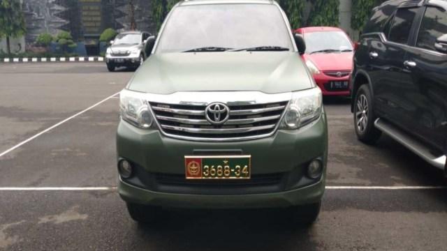 Puspomad Panggil Purnawirawan yang Pinjamkan Mobil Dinas TNI ke Warga Sipil