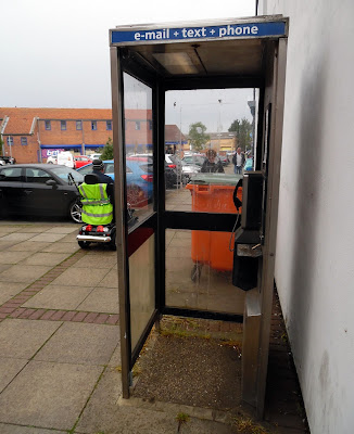 This Brigg town centre public telephone call box is facing removal - June 2019 - do to little use