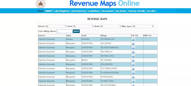 SSLR Revenue Maps Online