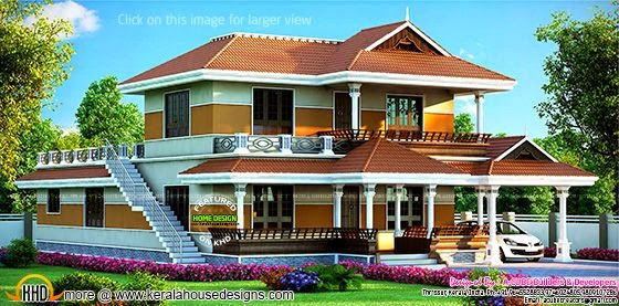 Kerala style beautiful house