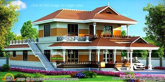 Kerala style beautiful house