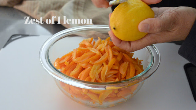 add lemon rind to make kumquat marmalade